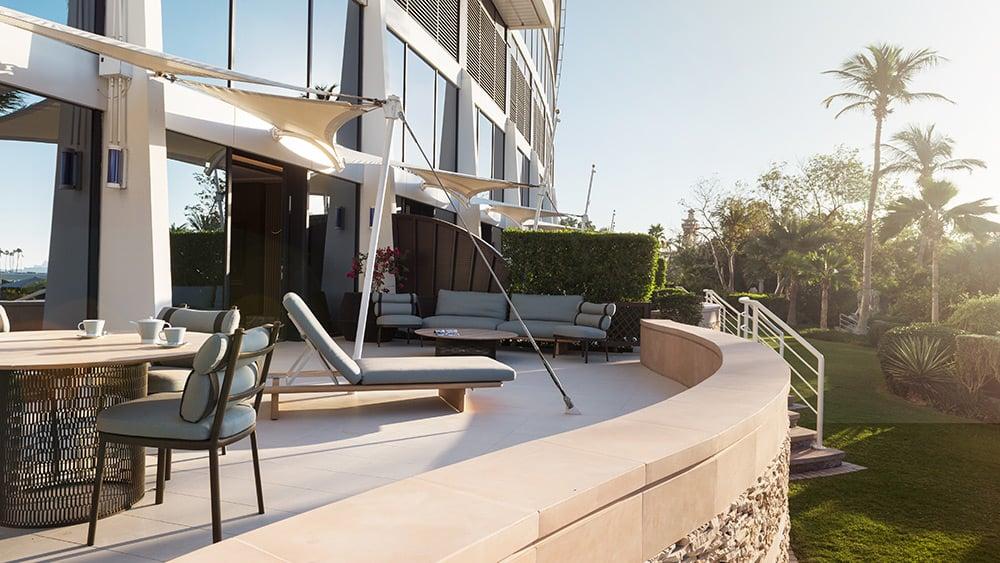 Terrace of the Family Garden Suite at Jumeirah Beach Hotel