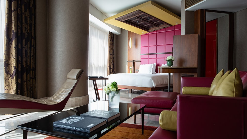 Living room and bedroom of the Family Suite at Jumeirah Creekside