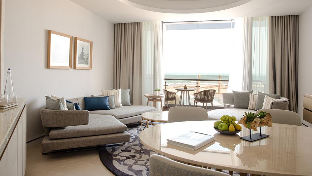 Living room of the Family Suite at Jumeirah at Saadiyat Island