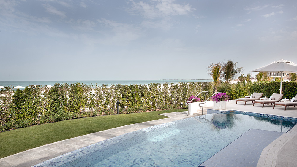 Private pool of the Four Bedroom Villa at Jumeirah at Saadiyat Island