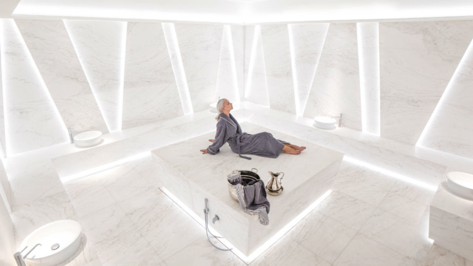 Woman in the Hammam at Nikki Beach Resort & Spa