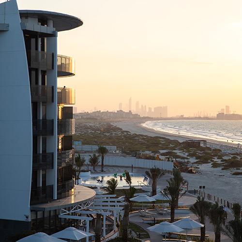 Sunset at Jumeirah at Saadiyat Island Resort