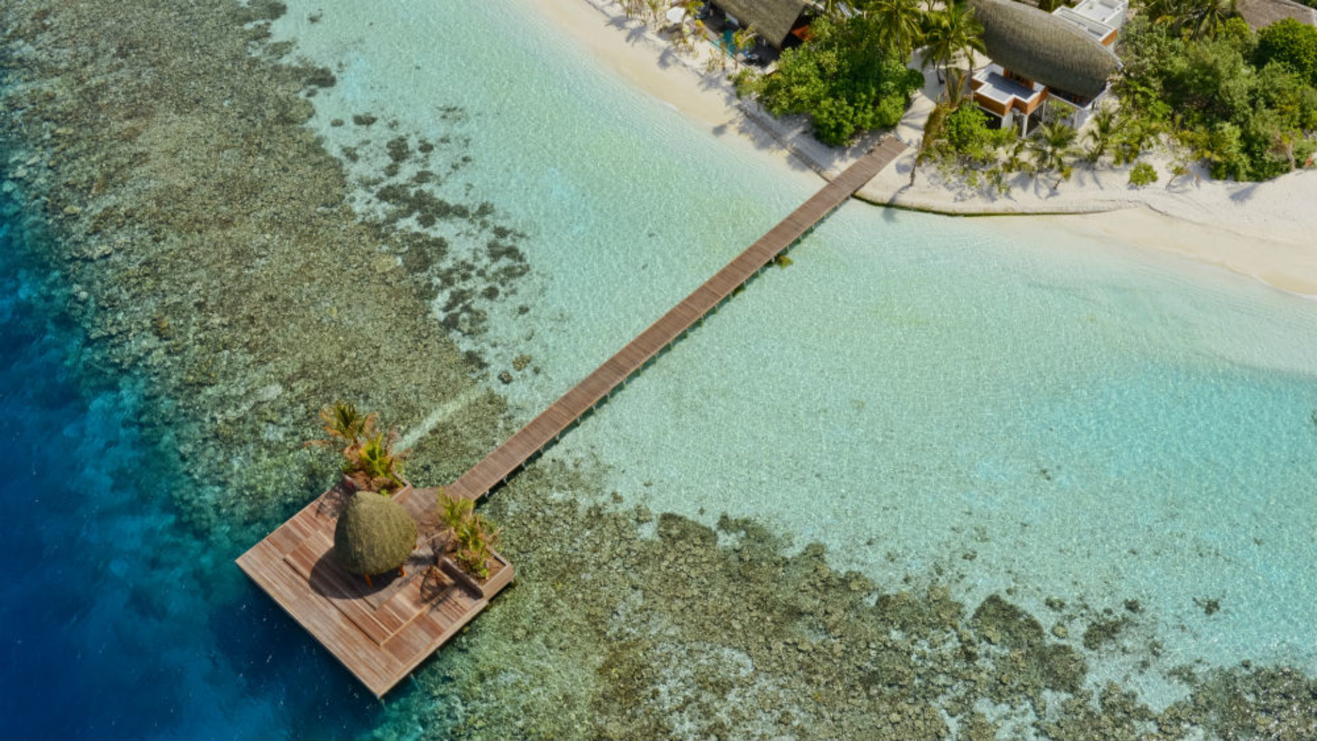 Kandolhu island pier at the Kandolhu Maldives