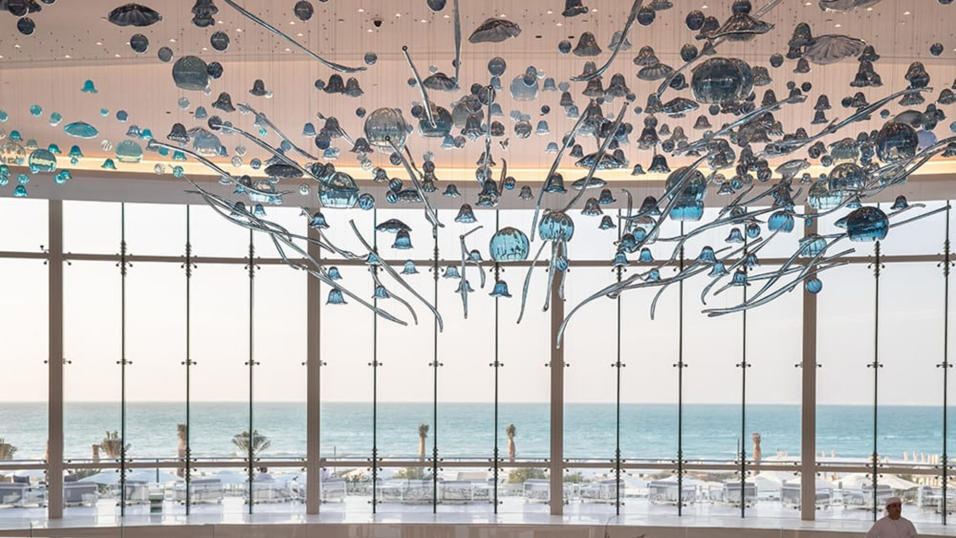 Art in the lobby of Jumeirah at Saadiyat Island