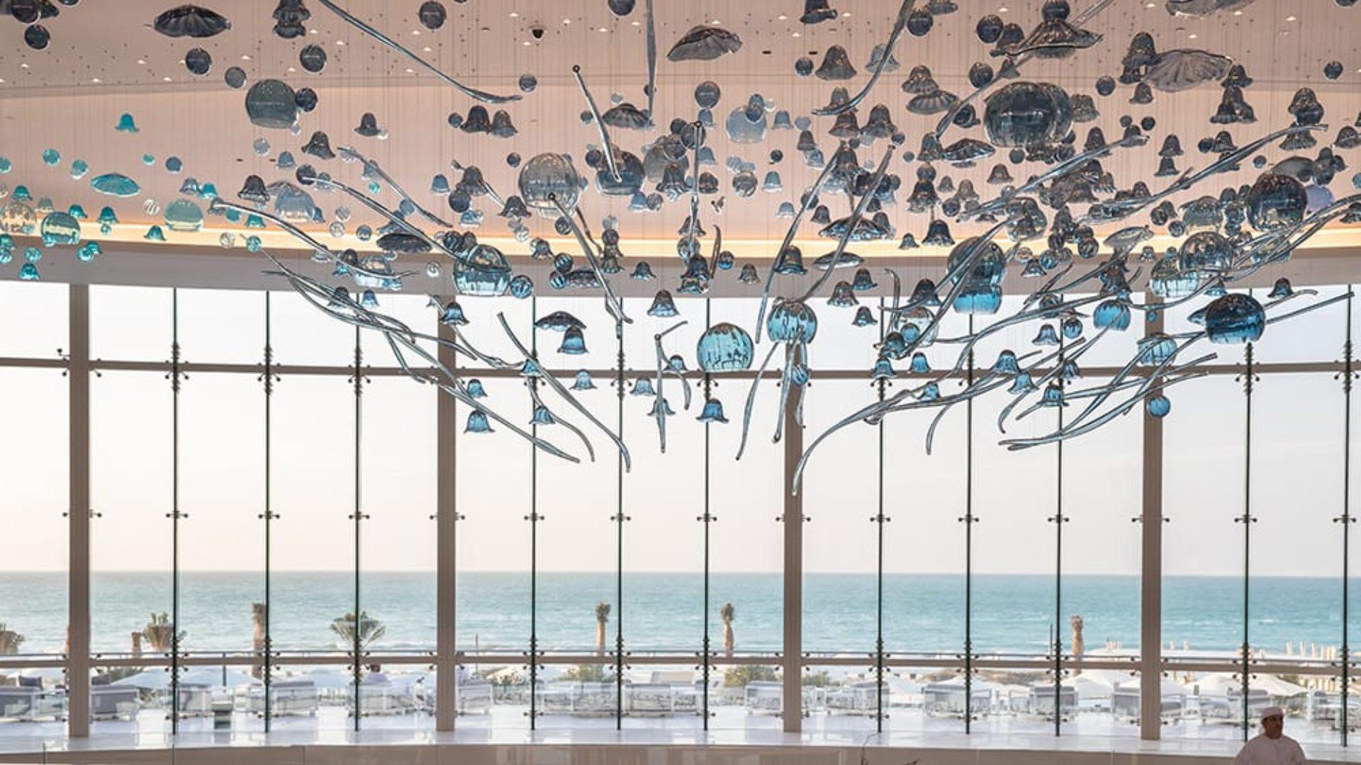 Art in the lobby of Jumeirah at Saadiyat Island