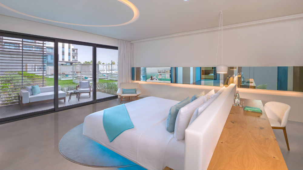 Luux room with swimming pool view at the Nikki Beach Resort & Spa Dubai