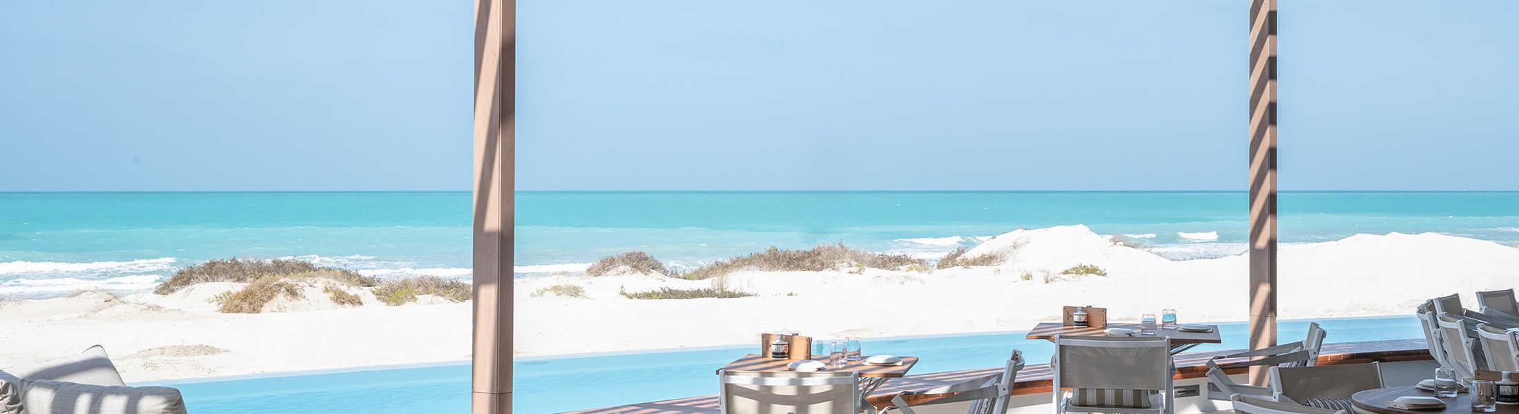 Ocean view from Mare Mare Restaurant at Jumeirah at Saadiyat Island