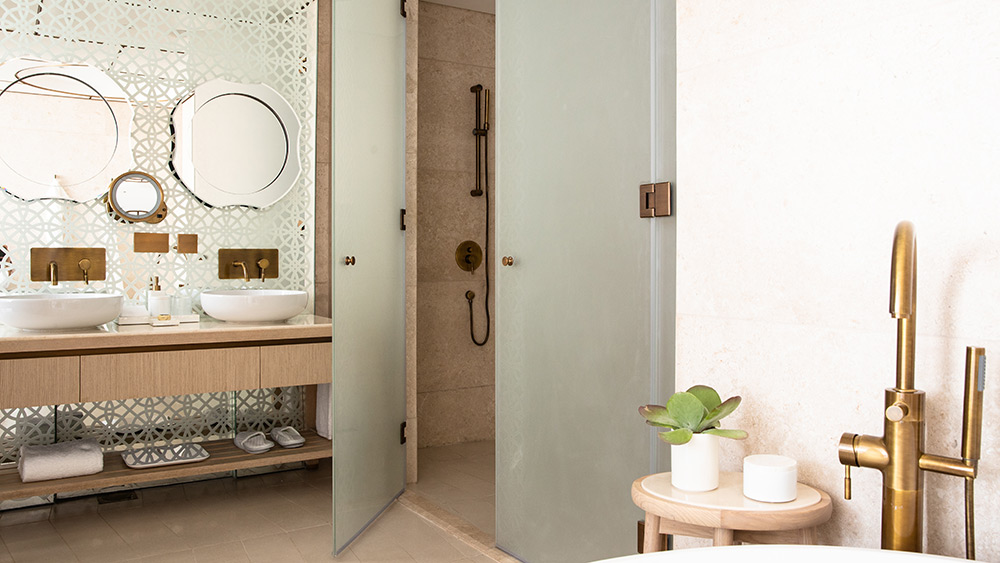 Bathroom of the Ocean One Bedroom Suite at Jumeirah at Saadiyat Island