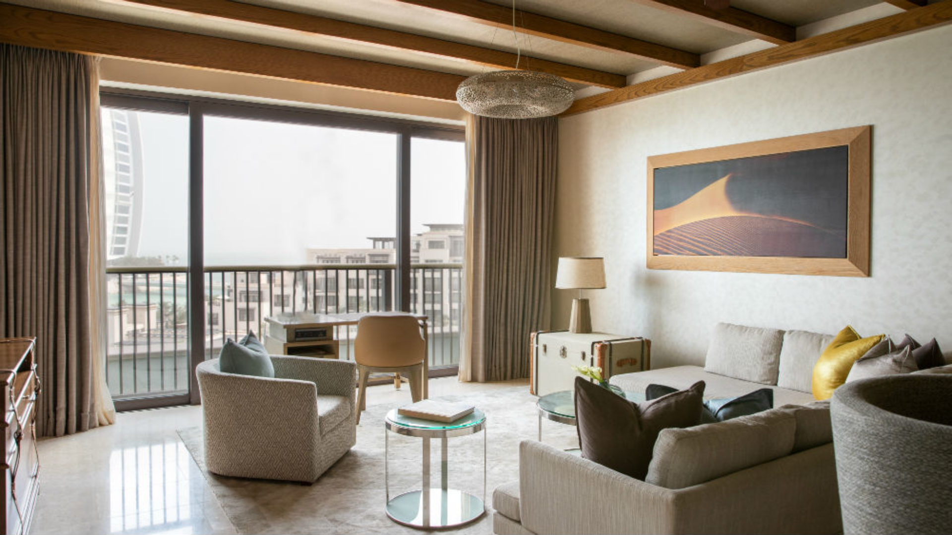 Ocean Suite Living Room at the Jumeirah Al Naseem