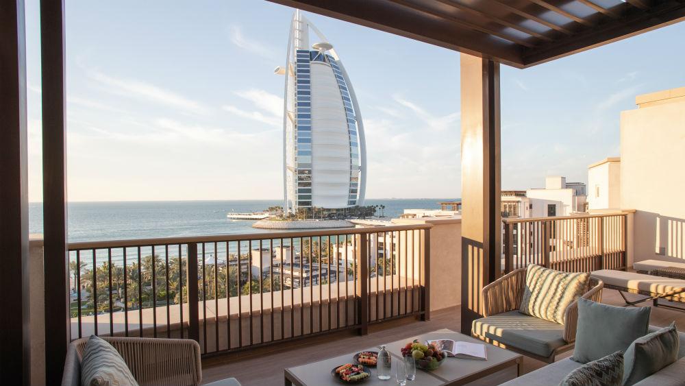 Ocean Terrace Suite Bedroom at the Jumeirah Al Naseem