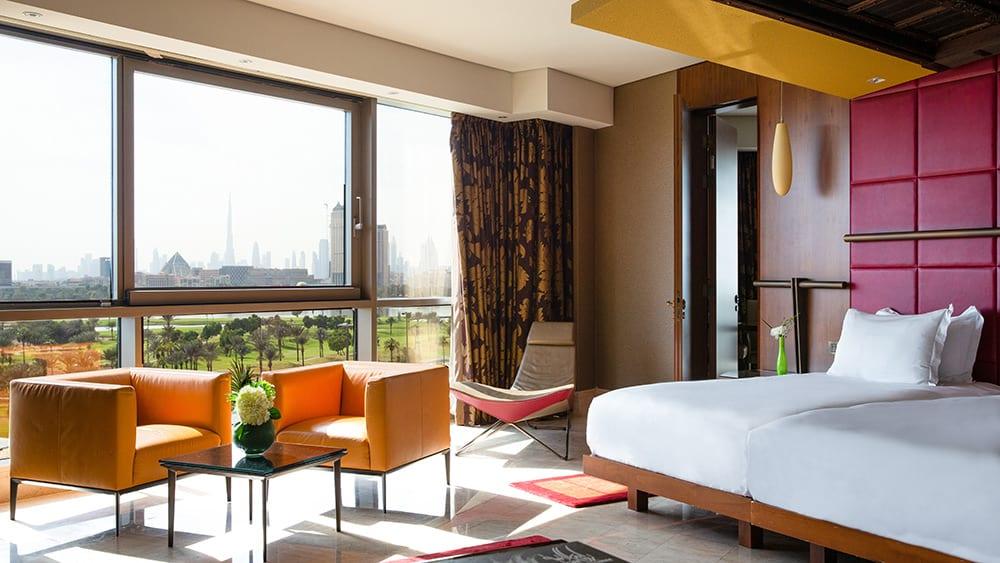 Bedroom of the Premier Room at Jumeirah Creekside