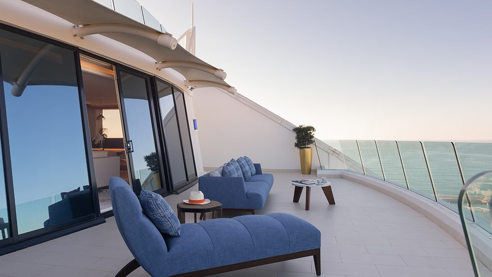 Terrace of the Presidential Suite at Jumeirah Beach Hotel