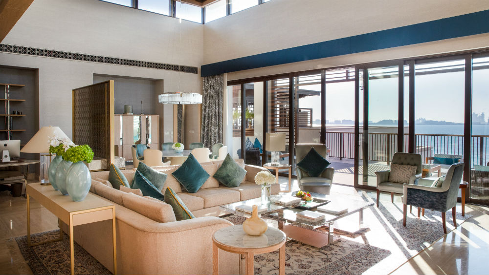 Presidential Suite Living Room at the Jumeirah Al Naseem