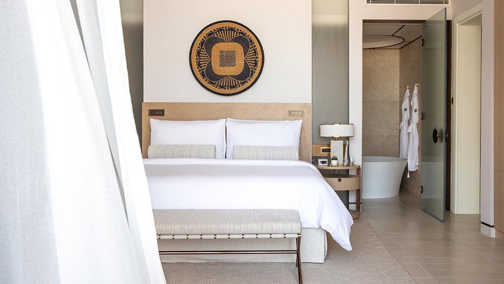 Bedroom of the Resort Deluxe Room at Jumeirah at Saadiyat Island