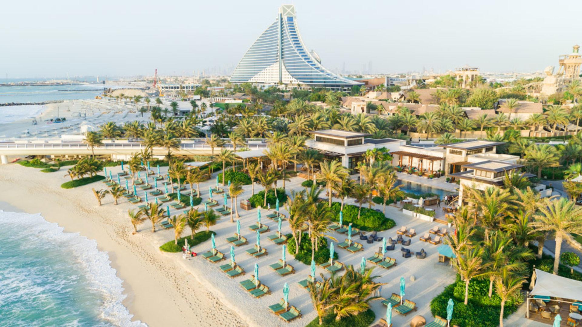 Rockfish Private-Beach Aerial Drone at the Jumeirah Al Naseem