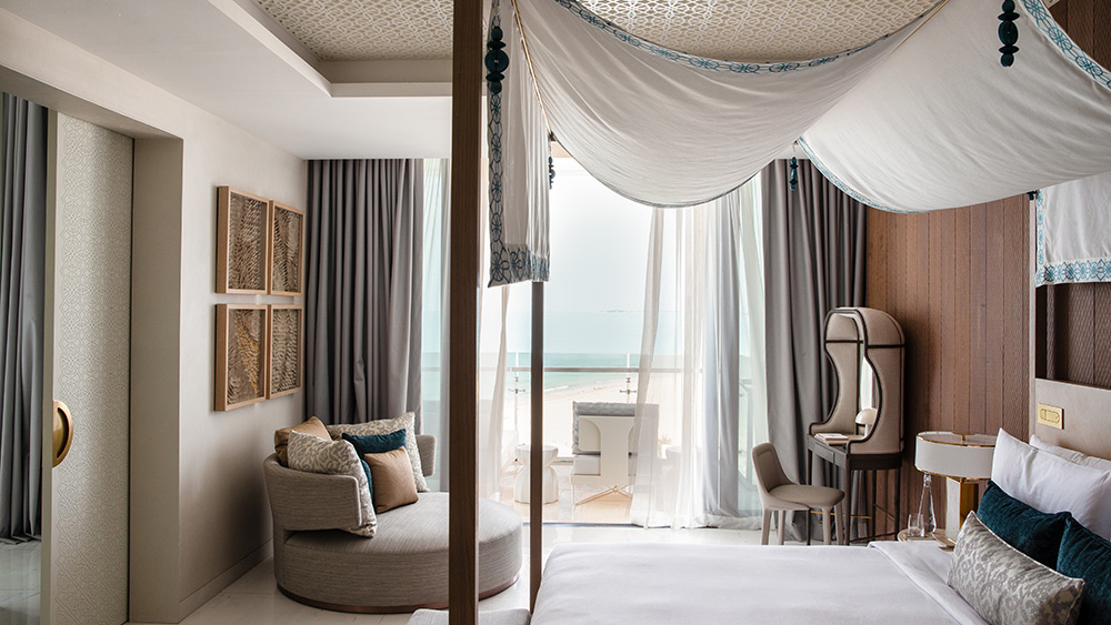 Bedrrom of the Saadiyat Two Bedroom Suite at Jumeirah at Saadiyat Island
