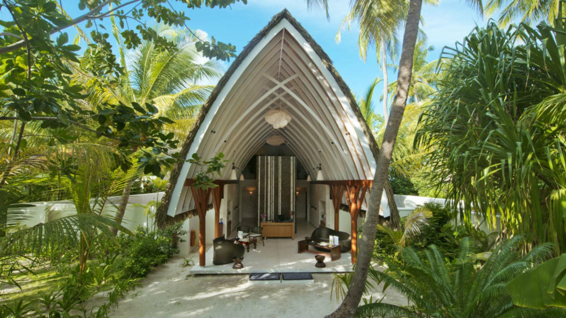 Spa entrance at the Kandolhu Maldives