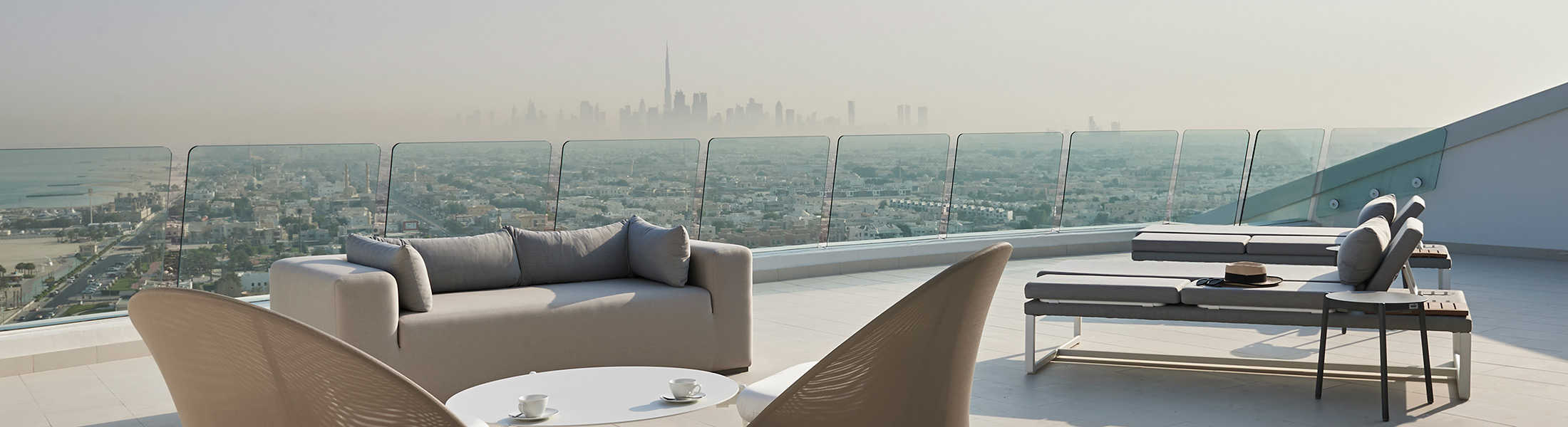 View from the Uptown Bar terrace at Jumeirah Beach Hotel