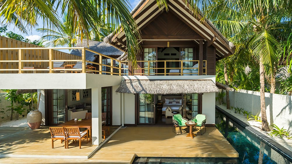 Exterior of the Two Bedroom Beach Suite with Pool at Jumeirah Vittaveli