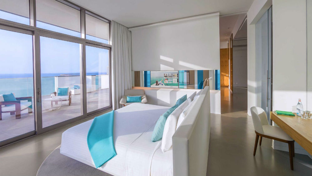 Ultra Suite bedroom at the Nikki Beach Resort & Spa Dubai