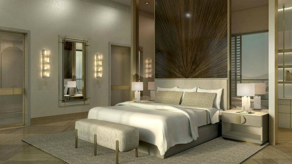 Royal penthouse bedroom at the Jumeirah Al Naseem