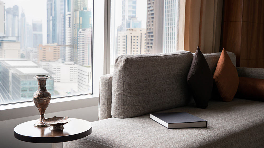 View from the Deluxe Room at Jumeirah Emirates Towers