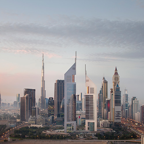 Exterior of Jumeirah Emirates Towers