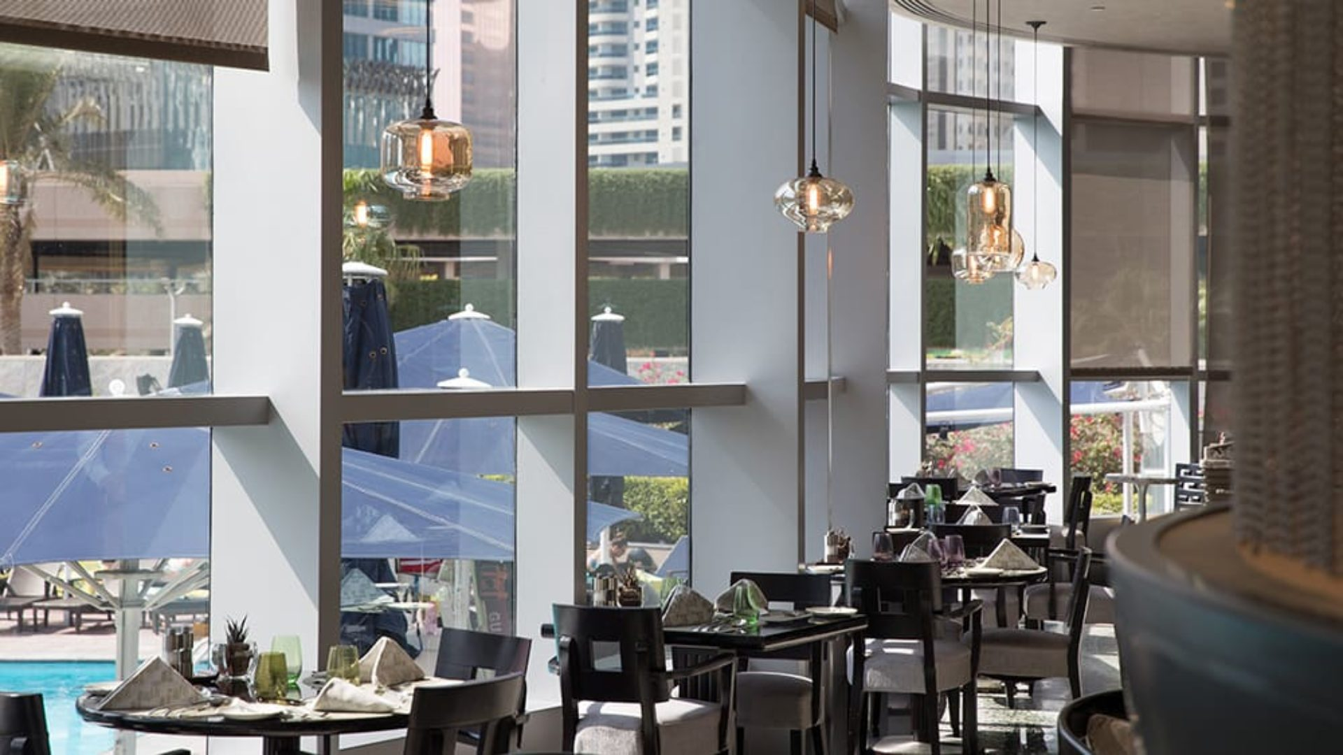 Interior of Mundo Restaurant at Jumeirah Emirates Towers