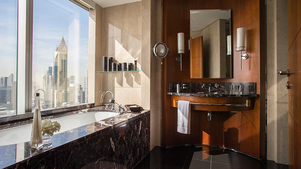 Bathroom of the Two Bedroom Family Room at Jumeirah Emirates Towers